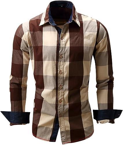 Camisa Formales Hombre Europeas Y Americanas Manga Larga De ...