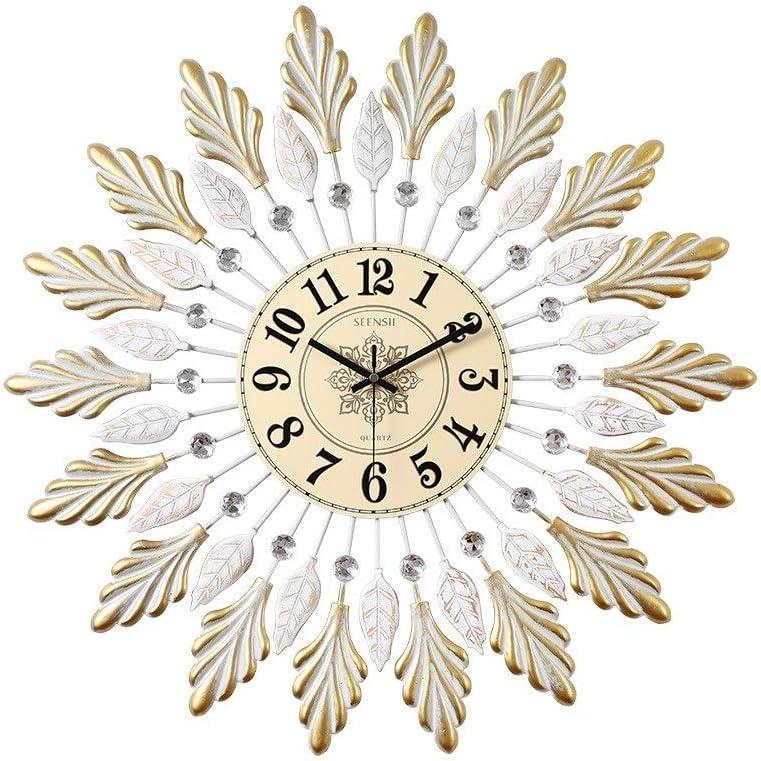XIAOQIU store Wall Popular products Clock Nordic Creative Style Maple Metal