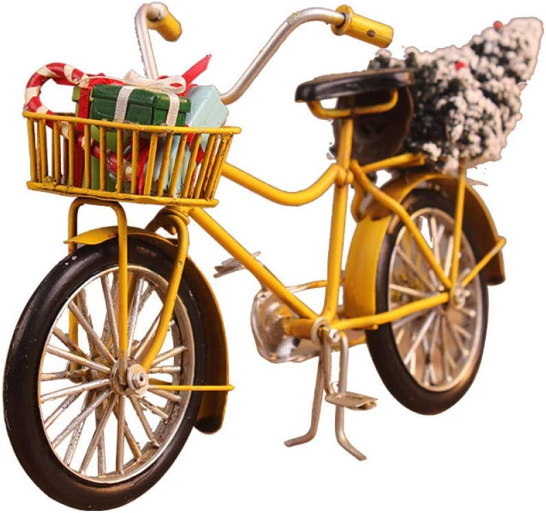 FENGWXINW Max 49% OFF Bust Indianapolis Mall Handmade Sculptures Decoration Christmas Bike Fig