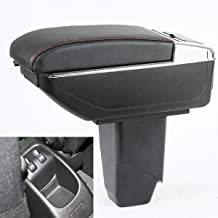 SZSS-CAR Leather Center Console Armrest Storage Box for Peugeot 206 2005~2008 / Peugeot 207 2008 2009 2010~2013 Armrests