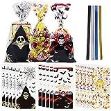 150 piezas Halloween bolsas transparentes,Bolsas Celofan Transparente para chuches,Bolsas Para Regalos Para Frutos Secos