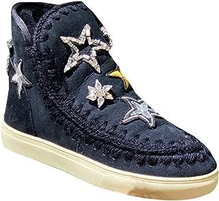Womens Mou Eskimo Pearl Studs Sneaker Boots