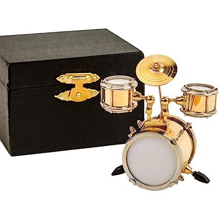 Zouminy Miniature Musical Instrument Drum Set 18cm Musical Instrument Model Display Mini Ornaments Craft Home Decor Gift