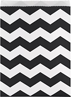 Creative Converting 315209 120-count Papel Chevron Pattern, Negro, Treat Bolsas grande, color negro Chevron