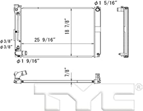 TYC 13256 Lexus RX330 Replacement Radiator
