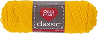 Red Heart Classic E267.1270 Yarn, Bright, Golden Yellow