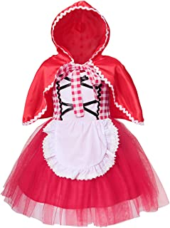 Princess Costume for Girls Kids Christmas Halloween Theme Party Dress up with Cape 1-10 Years