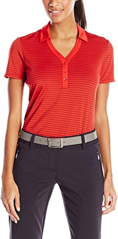 Callaway Women's outlet Free shipping Short Sleeve Fine Polo Line Stripe Shirt