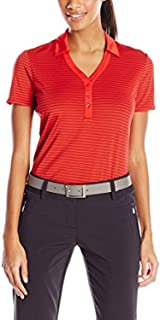 Callaway Women's Golf Short Sleeve Fine Line Stripe Polo Shirt