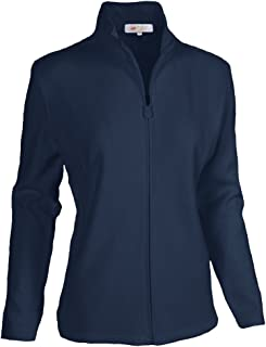 Monterey Club Ladies Classic Long Sleeve Zip-up French Rib Jacket #2934