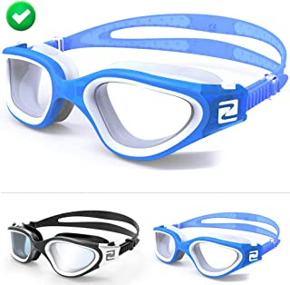 ZABERT Adults Swim Goggles,Pro Swimming Goggles for Women Men Youth Kids Age 8+ Years - Clear/Tint Lens Anti-Fog/UV Large Size Wide View NO Leak Comfort- Indoor/Open Water - Free Ear Plugs Nose Clip