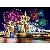 alles-meine.de GmbH Puzzle 500 Teile - Tower Bridge , London , England - Brücke Feuerwerk Silvester...