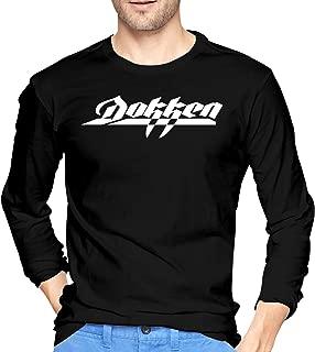 Dokken Metal Band Logo Cotton Men's T Shirt Comfort Long Sleeve Men's T Shirts Black