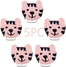 5pc Soft Crochet Cat Pacifier Clip Personalized Montessori Teething Toy Safe Metal Smooth Clip Organic Baby DIY Jewelry Ac...