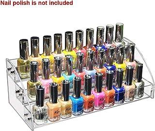 Soporte de esmalte de uñas estante de esmalte de uñas de acrílico transparente multi capa salón aparador organizador de m...