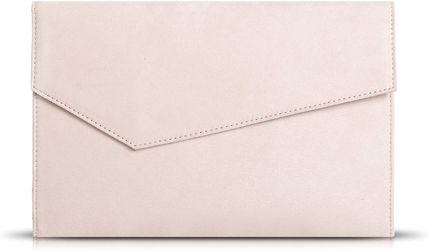 Anna Smith Women's Pure Faux Suede Envelope with Chain Purse Daily Clutch Bags