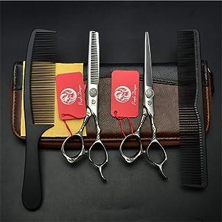 Professional Barber High-End Silver 6,0 Inch Hair Snijden Scharen Verdunnende Shears 9CR Steel 4 delige Set kappers Stylis...