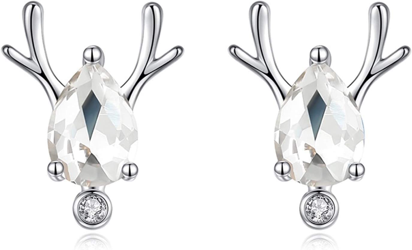 XXXXW Department store Earrings with 925 Sterling Silver Female Elk Superior Ster
