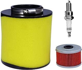 Amhousejoy Air Filter for Honda TRX350TM TRX350TE TRX350FM TRX350FE Rancher/Foreman 400 & 450 Fourtrax 300 1992-2000 with Oil Filter & Spark Plug