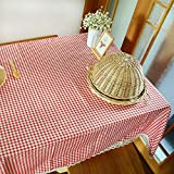 WSJIABIN Home Decoration Tablecloth Waterproof Literary Thickened Plaid Table Cloth Pastoral Fabric Table Cloth Table Cloth Tea Table Cloth (Kaishi)