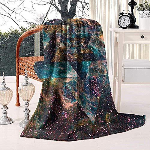 Fleece Blanket Trippy Psychedelic Summer Cozy Bed Bed Warm Luxury Throw Blanket Flanella Coperta in Pile Divano Caldo Car Home Hospital Hostel Office 102X127Cm