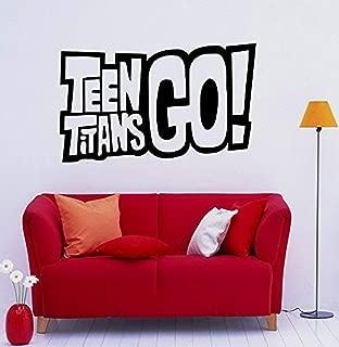 Teen Titans Go Wall Decal Animated Series Vinyl Sticker Cartoon Superheroes Interior Home Childrens Room Door Sticker (AA5M)