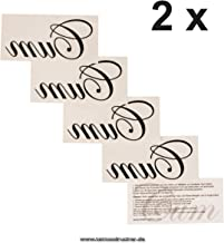 2 x Cum Temporary Tattoo Lettering in Black - Fetish Kinky Tattoo (2)