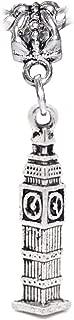 Big Ben London England Trip Clock Tower Dangle Charm for European Bead Bracelets