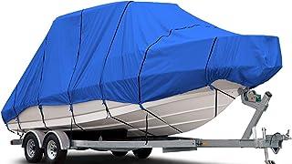 غطاء قارب مزدوج صلب 600 دينير B-620-X8 600 ، أزرق بطول 61 سم - 66 سم (عرض الشعاع حتى 269 سم) مقاوم للماء والأشعة فوق البنف...