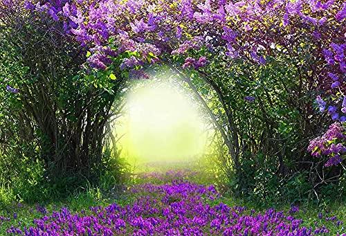 Fondo de fotografía Flores de jardín de Primavera Hermoso Paisaje Natural Boda Niños Telón de Fondo Foto Teléfono Estudio fotográfico A4 10x10ft / 3x3m