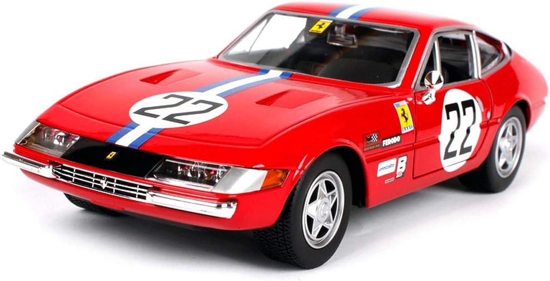 Maisto 1 24 Rispetto agli Stati Uniti Ferrari 365 GTB4 modellolo di Auto in Lega di Simulazione per Bambini Giocattolo modellolo di Auto Auto in Mettuttio Collezione di Raccolta Scala Simulazione Veicolo