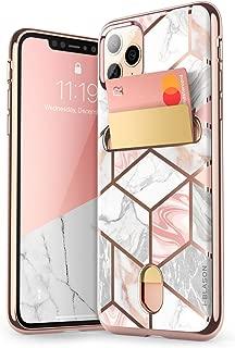 i-Blason Cosmo Wallet Slim Designer Wallet Case for Apple iPhone 11 Pro (2019), 5.8 Inch (Marble)