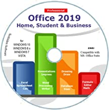 Office Suite 2019 Home Student and Business for Windows 10 8.1 8 7 Vista 32 64bit| Alternative to Office 2016 2013 2010 365 Compatible with Word Excel PowerPoint ⭐⭐⭐⭐⭐