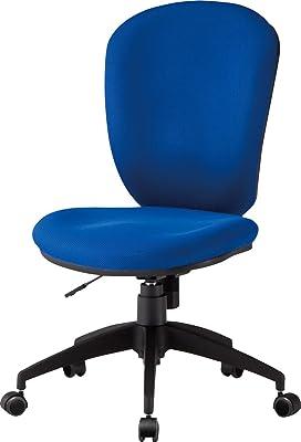 TOKIO デスクチェア オフィスチェア 肘なし CF-5C ブルー