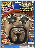 Forum Novelties Goatee/Hip-Hop/Rap Star Moustache and Beard Set