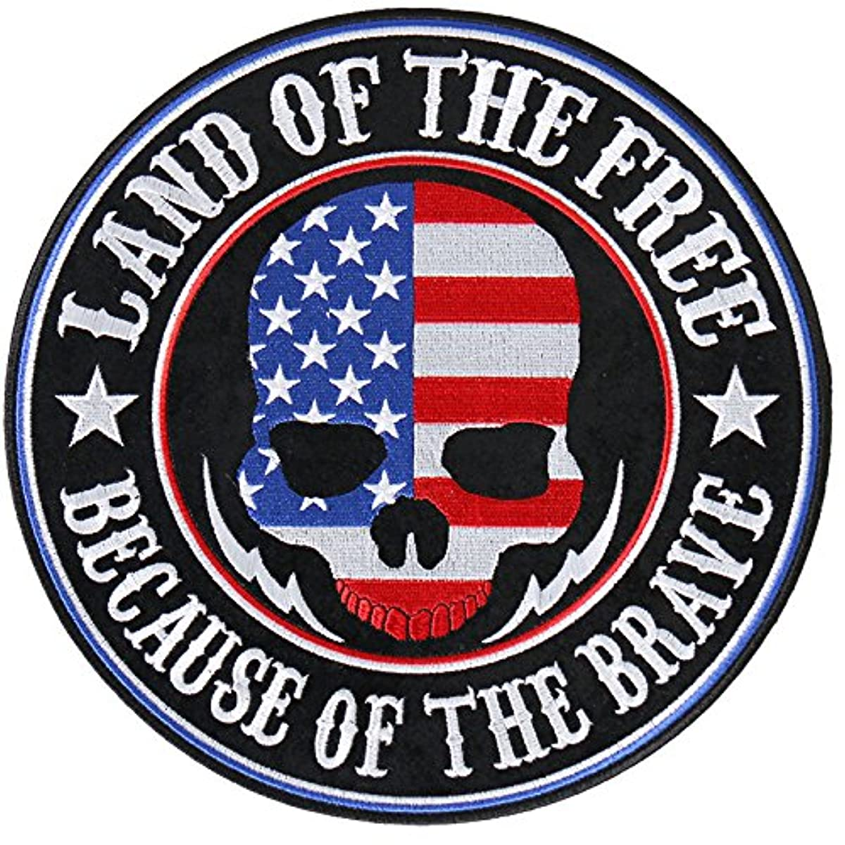 Hot Leathers Land of the Free Skull Patch (Multicolor, 4