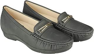 Flat n Heels Womens Black Loafer FnH 980-10-BK