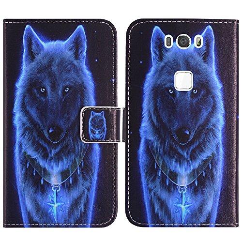 TienJueShi Wolf Flip Book Stand Brief Leder Tasche Für Gigaset Me pro GS57-6 5.5 inch Schütz Hülle Handy Hülle Abdeckung Fall Wallet Cover Etüi TPU Silikon