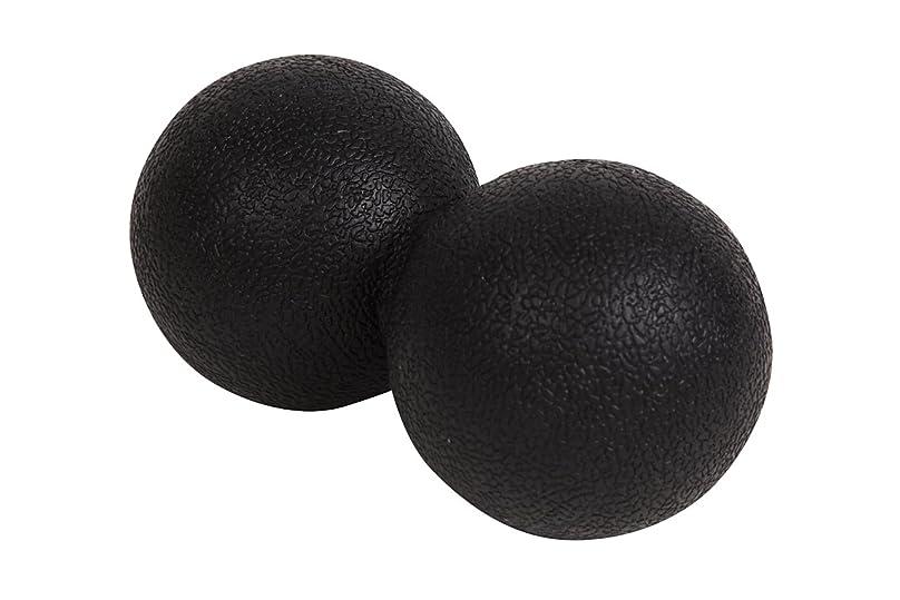 の量伝記関係アポロン 肩こり ストレッチボール 背中 首 足裏 マッサージボール 腰 リハビリ ストレッチ ボール 仕事 疲れ ツボ押し これ一つで全身の凝りに (ブラック)