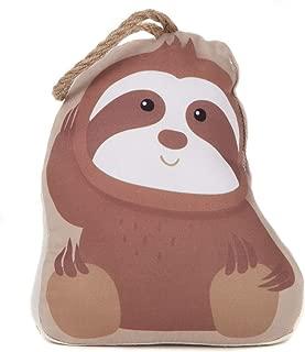 Grey Fabric Sloth Door Stop 9.84