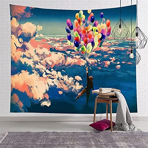 KBIASD Tapiz de decoración de Pared de Tela voladora de Globo para Dormitorio Sala de Estar Cortina de Dormitorio 150X200CM