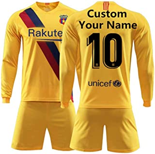 HEFANG Football Jerseys for Men Custom Name and Number Football Uniform Long-Sleeved Soccer Jersey Men Soccer Jerseys for Kids