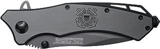 NDZ Performance US Coast Guard Engraved TAC-Force TF-820GY Speedster Model Folding Pocket Knife