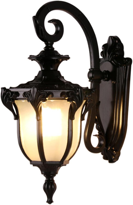 Auenwandleuchten Schwarz Antik Retro E27 Nordisch Landhaus Aussen Wand Lampe Alt Aussenwandlampe Led Vintage Rustikal Auenlampe Londen Aluminium Glas Buiten Wandleuchte Drauen Outdoor