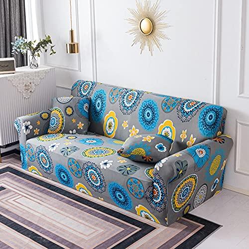 WXQY Funda de sofá geométrica elástica para Sala de Estar, Paquete Ajustado, Funda de sofá con Todo Incluido, Funda de sofá Modular, Funda de sofá A2 de 4 plazas