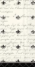 Boston International BF779567 20 Count Paper Guest/Buffet Napkins, French Fleur De Lis
