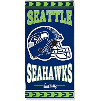 SEATTLE SEAHAWKS BEACH TOWEL LICENSED