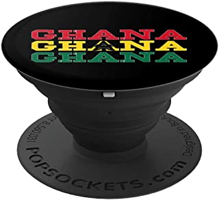 GHANA   Ghanaian Flag Sports Lovers PopSockets Grip and Stand for Phones and Tablets