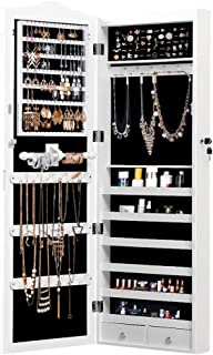 Levede Mirror Jewellery Cabinet Makeup Storage Cosmetic Organiser Box Hanging