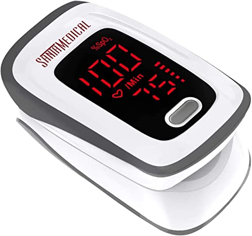 Fingertip Pulse Oximeter, Blood Oxygen Saturation Monitor (SpO2) with Pulse Rate Measurements and Pulse Bar Graph, Po...